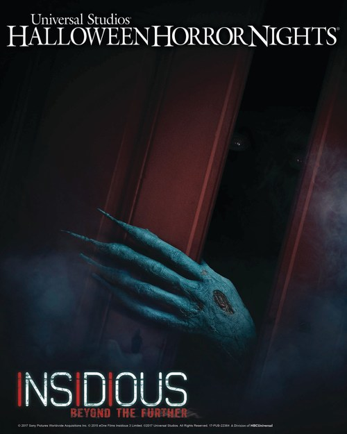 """Universal Studios Hollywood Unleashes """"Insidious: Beyond the Further,"""" an All-New Terrifying """"Halloween Horror Nights"""" Maze and Living Trailer for Universal Pictures and Sony Pictures' Stage 6 Films Insidious: Chapter 4."""