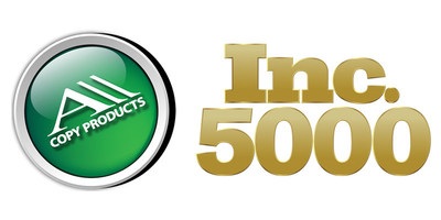 For the 11th time Inc. magazine ranked All Copy Products NO. 4133 on its 36th annual Inc. 5000 list with a 3-year growth of 66%. All Copy Products has strived to be a leader in the office equipment and technology industry having grown to be a trusted provider offeringdigital office equipment, IT services