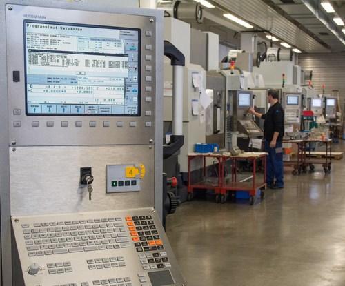 HEIDENHAIN to showcase networked machining at EMO 2017.  HEIDENHAIN's TNC 640 control shown here.