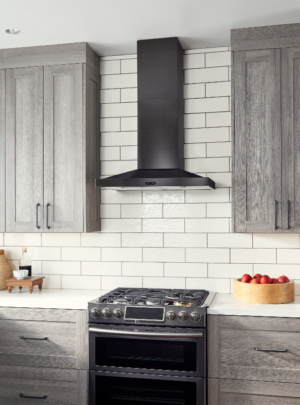 Most Powerful Range Hood ~ Stylish and powerful broan nutone debuts stunning black