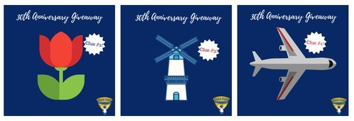 Giveaway hints posted on the Dutch Farms Facebook page in August.