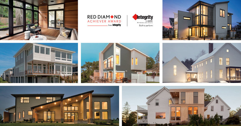 Winners of the 2017 Red Diamond Achiever Awards from Integrity Windows and Doors