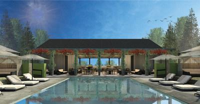Meadowood Napa Valley - Rendering of Upper Pool and Pool Cafe & Bar.