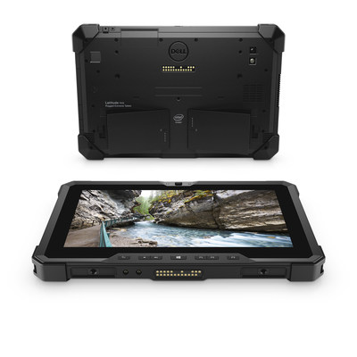 With dual hot-swappable batteries and pogo connectors for mounts and accessories, the new Latitude 7212 Rugged Extreme Tablet was designed for flexibility and compatibility