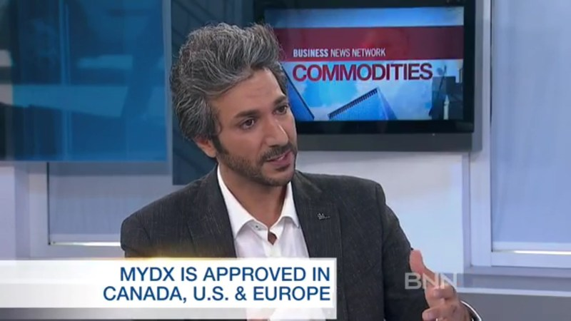 CEO Daniel Yazbeck speaks to BNN about MyDx and its current and upcoming products. https://www.bnn.ca/commodities/video/mydx-analyzes-what-s-in-your-marijuana~1195357