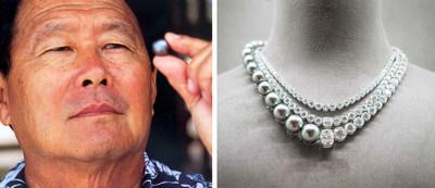 Firmin Robert Wan, founder of Robert Wan (left); Robert Wan's Ensó necklace (right)
