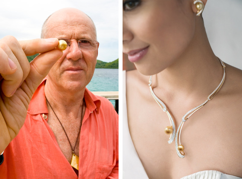 Jacques Branellec, Group President & CEO, Jewelmer (left); Jewelmer Joaillerie's Guimard necklace, (right)