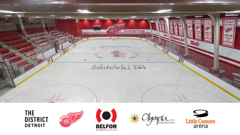 As Little Caesars Arena moves ever closer to its opening, Olympia Entertainment announced BELFOR Property Restoration has signed on as a Landmark-level partner. As a Landmark partner BELFOR Property Restoration will be the naming rights partner of the BELFOR Training Center (Red Wings practice facility), which will also be the home to the Little Caesars AAA Hockey club. The multi-year agreement begins with the 2017-18 event season.