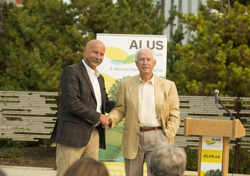 "PHOTO CAPTION:  Alberta philanthropist David Bissett and ALUS Canada, a Weston Family Initiative, today announced the ""Bissett Action Fund,"" a $500,000 gift which will support nearly 1,000 acres of environmental projects on farms and ranches in southern Alberta. Photo: Neira Studios (CNW Group/ALUS Canada)"