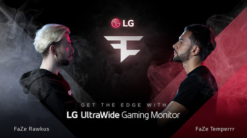LG Electronics USA is joining forces with FaZe Clan, the globally recognized gaming team, to host a gaming competition featuring LG's new premium high-resolution gaming monitor, the 34-inch 21:9 UltraWide curved display.