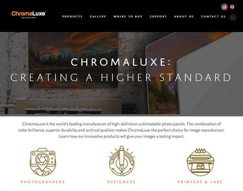 ChromaLuxe website homepage