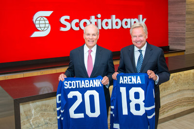 Scotiabank President and CEO, Brian Porter and MLSE President and CEO Michael Friisdahl (CNW Group/Scotiabank)