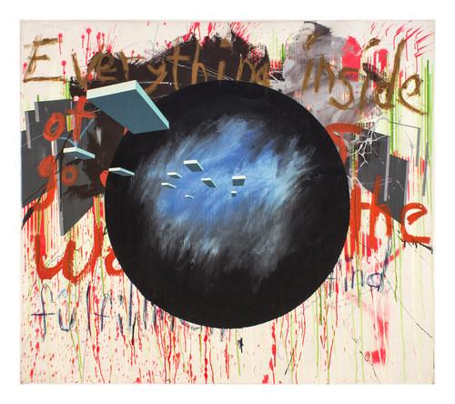 "Ricardo Paniagua | Space Odyssey | 2009 | mixed media on canvas | 52"" x 62"""