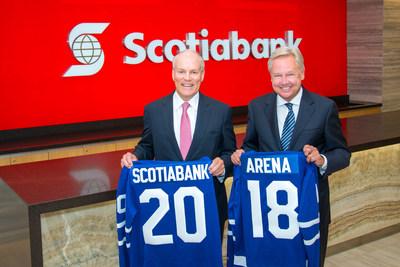 Brian Porter, président et chef de la direction de la Banque Scotia et Michael Friisdahl, président et chef de la direction de MLSE (Groupe CNW/Scotiabank)