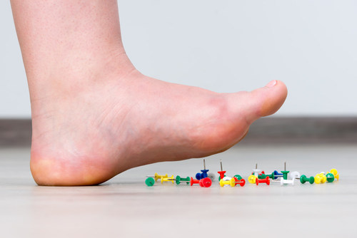 Neuropathic Pain often feels like you're walking on pins and needles