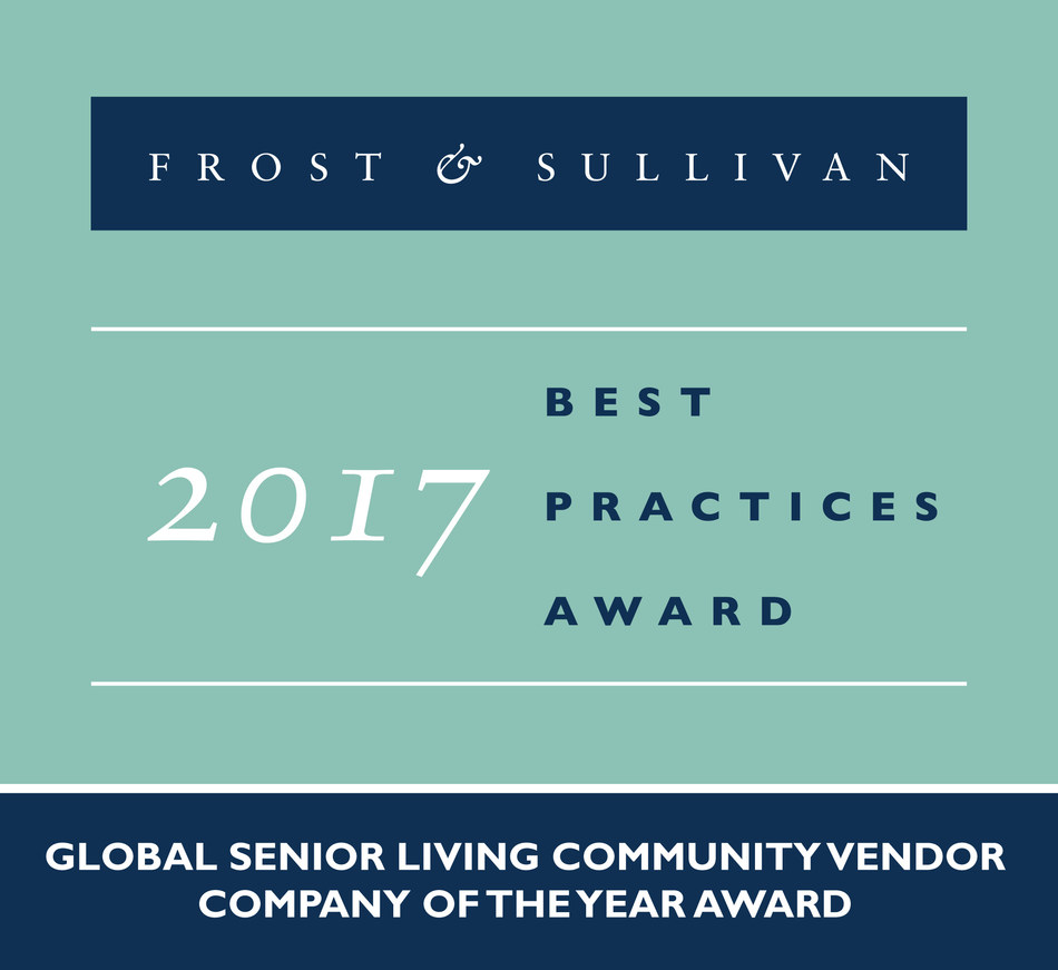 STANLEY Healthcare receives the 2017 Global Senior Living Community Vendor Company of the Year Award (PRNewsfoto/Frost & Sullivan)