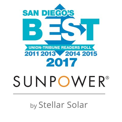 SunPower by Stellar Solar Reclaims Title of Best Solar Power Company in the 2017 San Diego Union Tribune Readers Poll