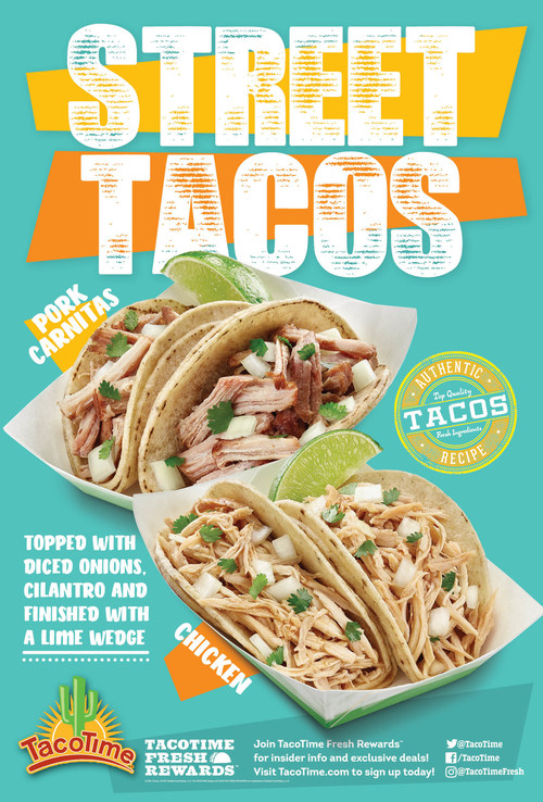 Taco Time Street Tacos return for a limited time, featuring pork carnitas or new shredded chicken.