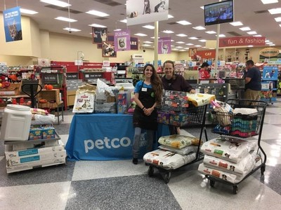 Petco Foundation donates supplies to local animal welfare organizations across the country.