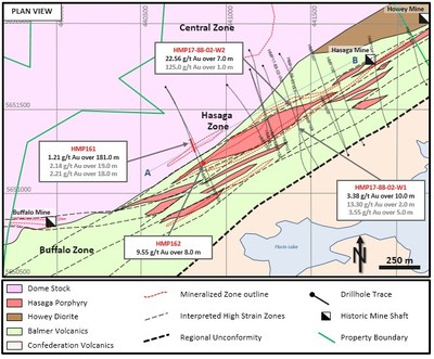 Figure 1:   Planview of Hasaga Deep Hasaga Target Area (CNW Group/Premier Gold Mines Limited)