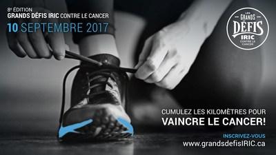 Cumulez les kilomètres pour vaincre le cancer! (Groupe CNW/Institut de recherche en immunologie et en cancérologie de l'Université de Montréal)