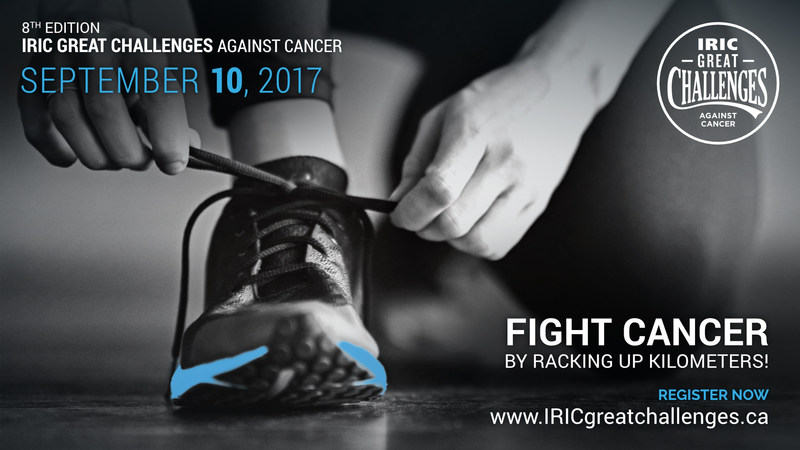 Help fight cancer by racking up kilometres! (CNW Group/Institut de recherche en immunologie et en cancérologie de l'Université de Montréal)