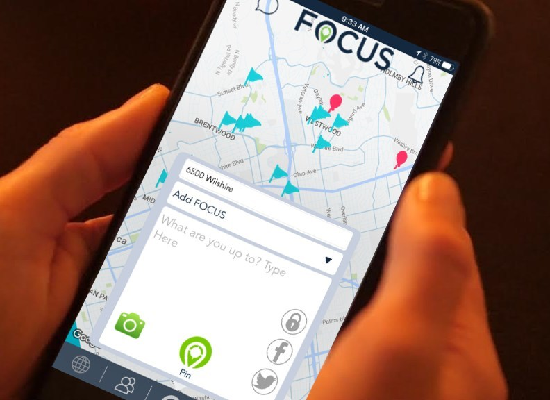 FOCUS: Map of Your World is a mobile app with an interactive Map that allows you to connect to people, places, and fun events that align with your personal interests. Using inputs for what you like and your current location, FOCUS shows you what you should do right now and allows you to interact with the world around you.