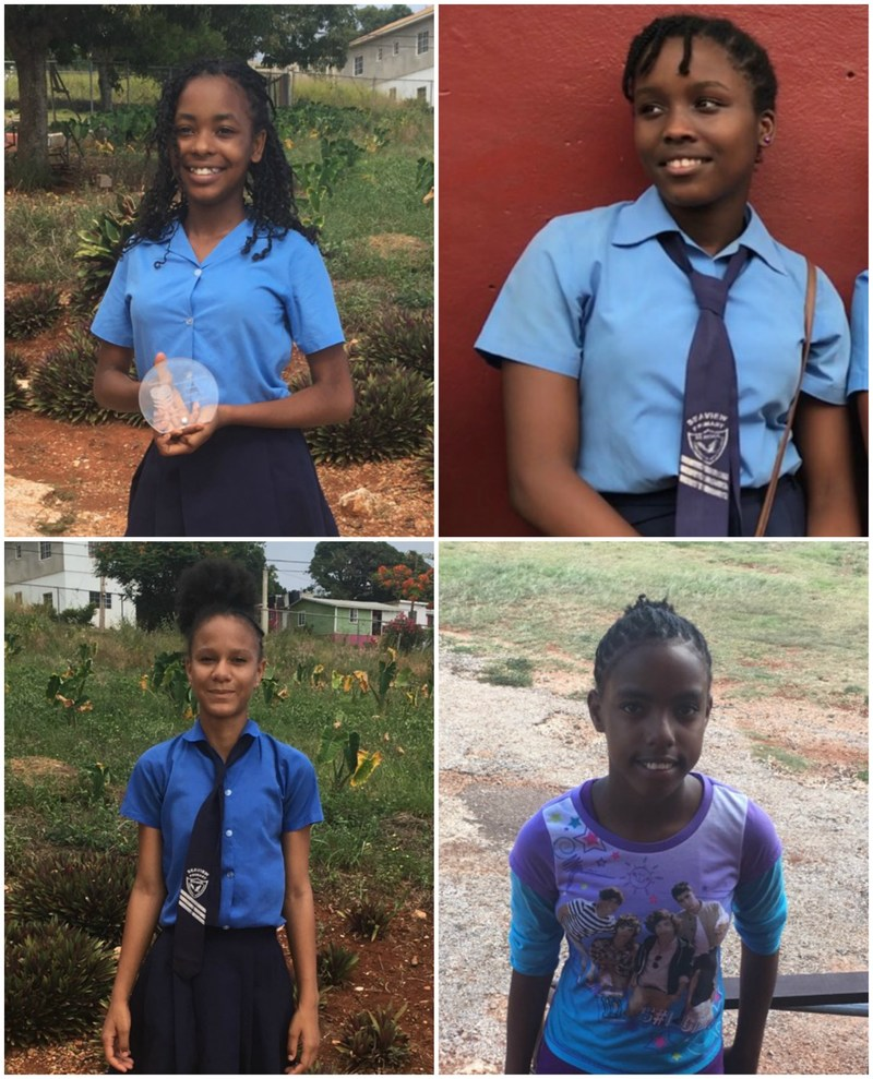 The Lynne Mitchell Foundation awards its fifth-annual scholarship to Seaview Primary School students Adrianna Morris, Britni Stephenson, Jhenelle Jones and Tianna Rowe (pictured above).