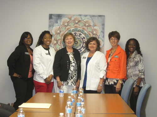 Right to Life of Michigan President Barbara Listing (third from left) pictured with the staff of Care Net Pregnancy Center Detroit
