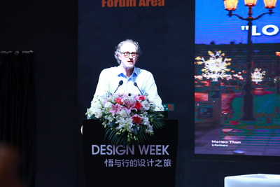 Worldwide Well-known Designer Mr. Matteo Thun is giving a presentation