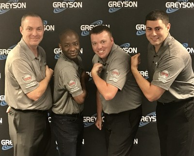 Part of Greyson's engineering team. From (L) to (R): Danny Durrance, CCIE Routing & Switching; Youri Desrosiers, CCIE Collaboration; Cliff Payne, CCIE Data Center; Andres Castro, CCIE Service Provider