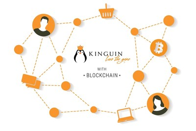 Kinguin with blockchain (PRNewsfoto/Kinguin)