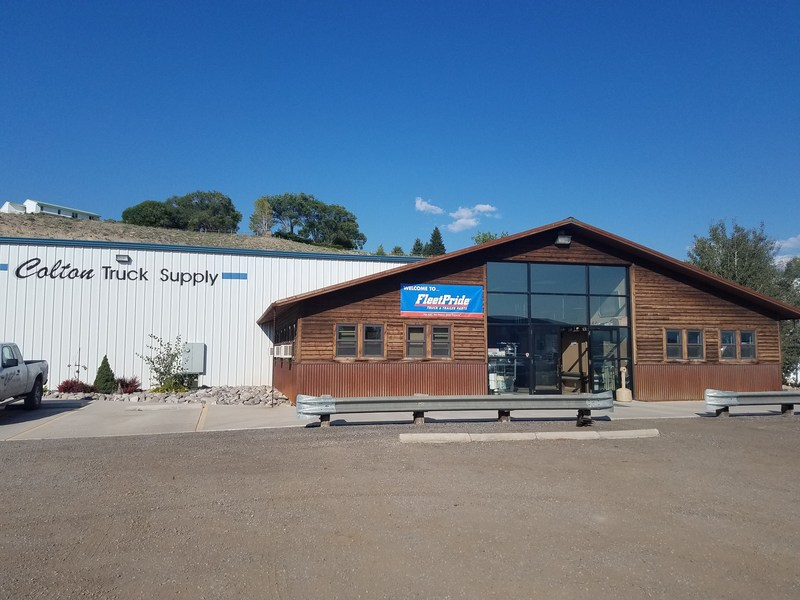 The former Colton Truck Supply in Montrose, Colorado, during its transition to a FleetPride branch.