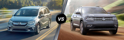The 2018 Honda Odyssey vs. 2018 Volkswagen Atlas comparison is one of Rohrman Honda's two brand new online research pages.