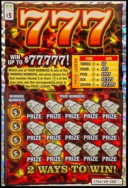 Virginia Lottery's 777 Spectrum Scratch FX® Ticket (CNW Group/Pollard Banknote Limited)