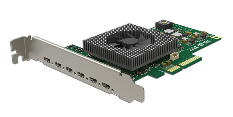 Magewell's new Flex I/O HDMI 4i2o input/output card offers outstanding channel density, performance and versatility for capture and playout applications.