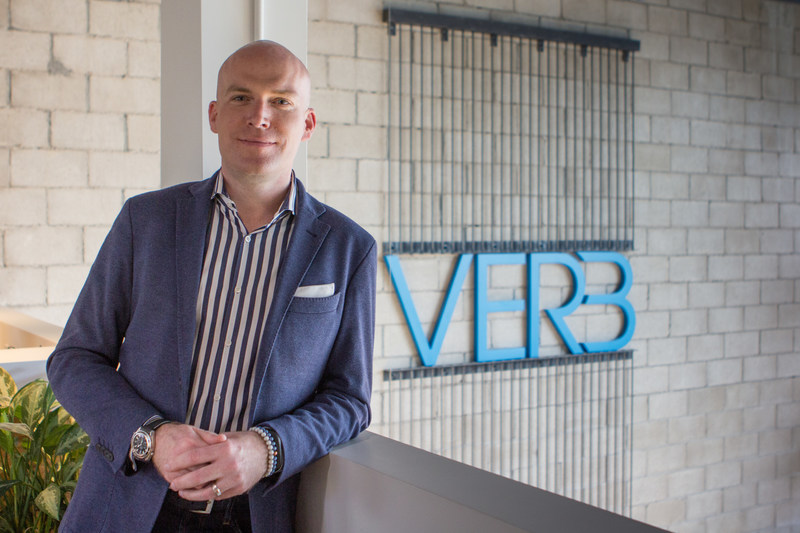 Andy MacLellan, President and Founder of VERB Interactive, at the company's Halifax office. (CNW Group/VERB Interactive)