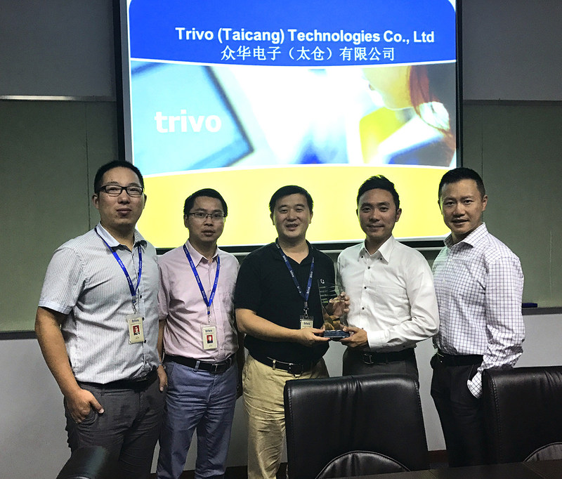 Trivo Presents Digi-Key with Best Supplier for NPI of the Year Award