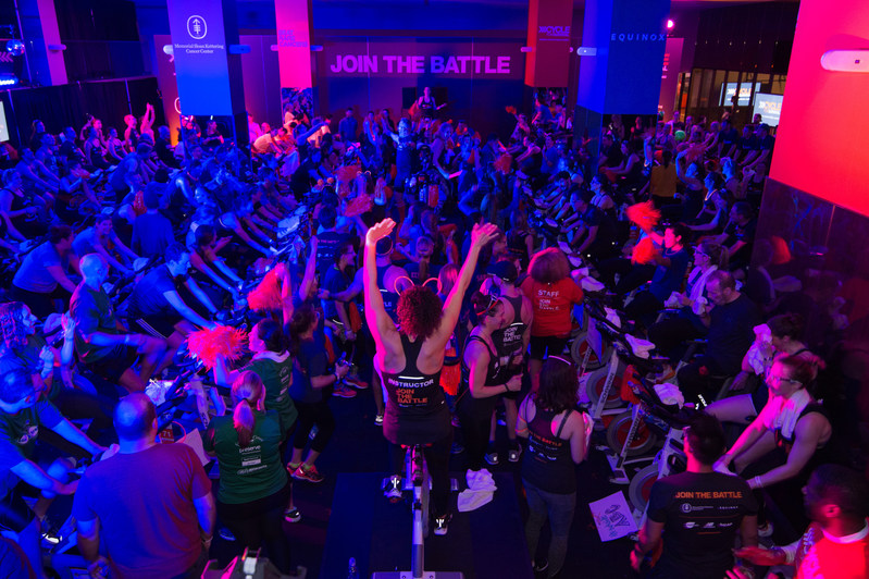 The Cycle for Survival community rode at events across the country in February and March to fight back against rare cancers. Cycle for Survival has raised $140 million since 2007, with $110 million raised in the past four years. Every dollar goes to rare cancer research. 31,000 people participated in the indoor cycling rides this year and more than 200,000 donors supported the cause. (Photo by Diane Bondareff/Invision for Cycle for Survival/AP Images)