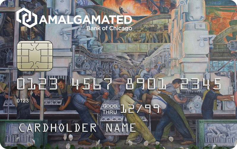 "Amalgamated Bank of Chicago honors its union roots and the hard workers behind them with the introduction of its Union Strong credit card featuring low interest rates and the iconic Diego Rivera mural, ""Paean to Labor and Industry,"" on the card imagery."