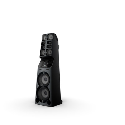 Sony's MHC-V90W delivers high sound pressure, which provides a wider sound service area and longer distance to fill the party environment with music