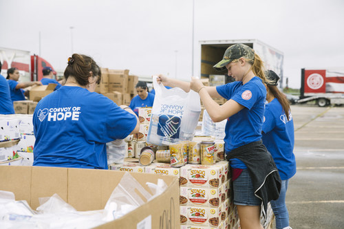 Hormel Foods products being distributed by Convoy of Hope to those impacted by Hurricane Harvey.