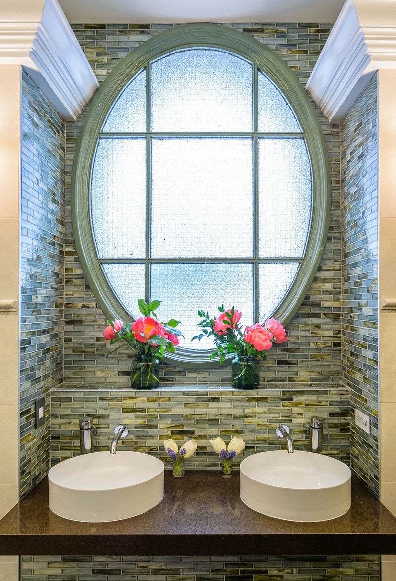 TOTO's Helix Wall Mount EcoPower Faucets and Arvina Vessel Lavatories enhance the elegance of Bryant Park's newly remodeled luxury public restrooms. Photo: Jane Kratochvil Photography. (PRNewsfoto/TOTO)