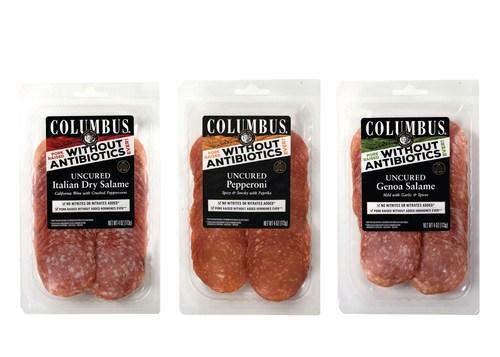 Columbus Craft Meats new line of Uncured Antibiotic Free Salami