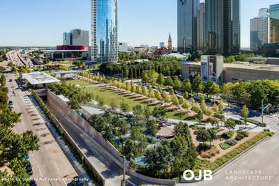 OJB Landscape Architecture wins the ASLA Design Award of Excellence for Klyde Warren Park,& a 5-acre freeway deck park in Dallas.