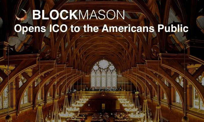 BlockMason Opens Their Debt Protocol Token ICO to the American General Public