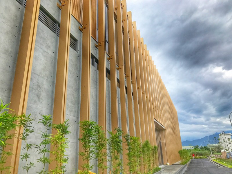LEED certified S11 greets visitors with its ever-changing metal surface.