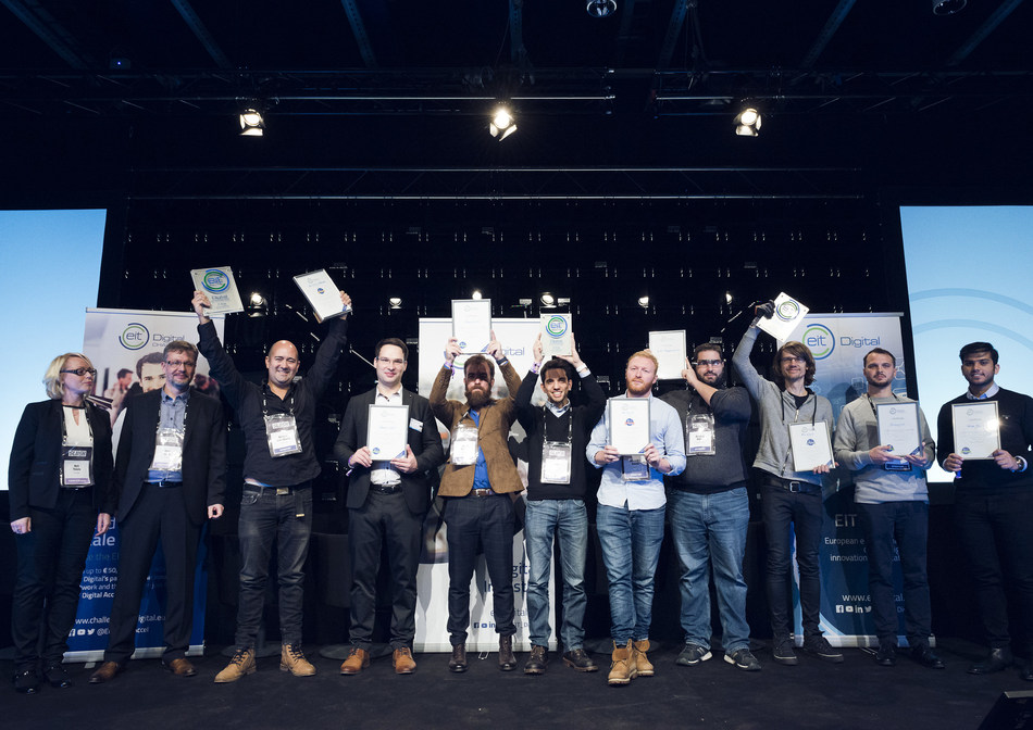 The EIT Digital Challenge awards Europe's best digital tech scaleups (PRNewsfoto/EIT Digital)