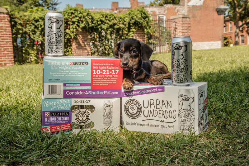 For every specially marked eight-pack of Urban Underdog American Lager sold at area retailers from Sept. 1 through Oct. 21, Purina will donate $3 to the Petfinder Foundation to help offset adoption fees at area shelters giving pet lovers and beer lovers alike a simple way to help local adoptable pets find forever homes.