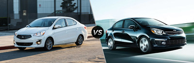 Drivers can decide which subcompact sedan is right for them with the help of the 2017 Mitsubishi Mirage G4 vs. 2017 Kia Rio comparison from Brooklyn Mitsubishi.